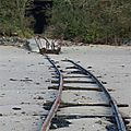 anciens rails plage des lupins à Rothéneuf