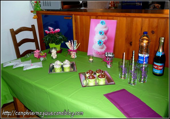 Sweet table cupcakes et bonbons