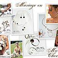 Mariage en marron, bijoux de créateur mariage marron chocolat, collier mariage marron