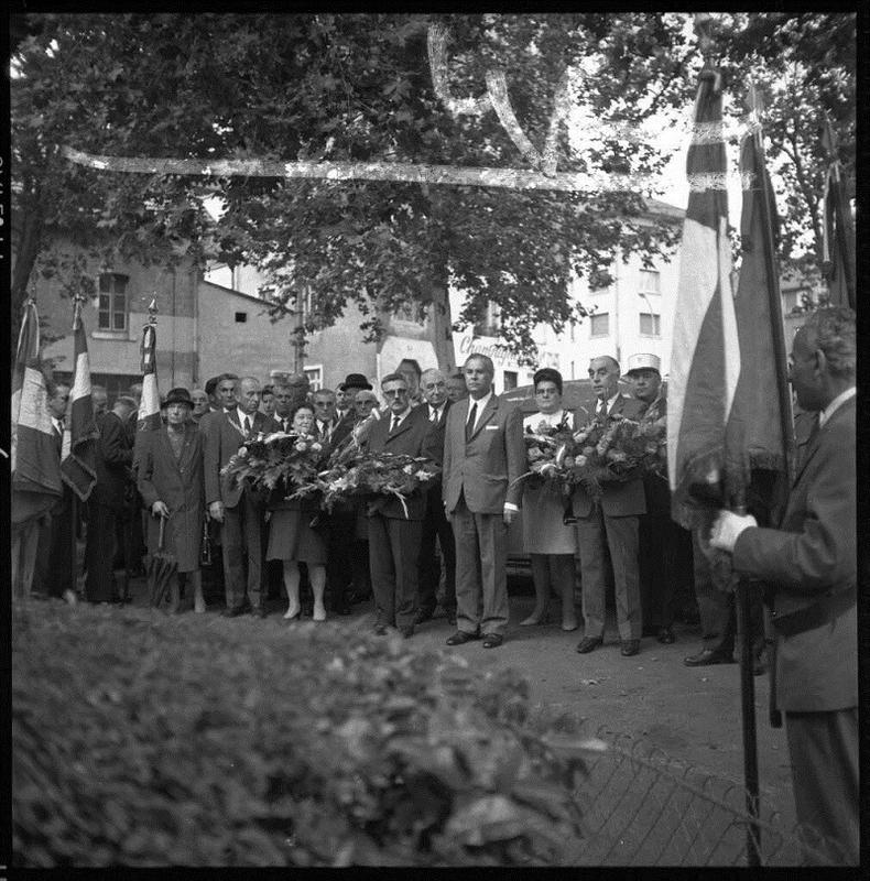 Mussillon et Minjoz place de la Liberté septembre 1970 les FFI (2)