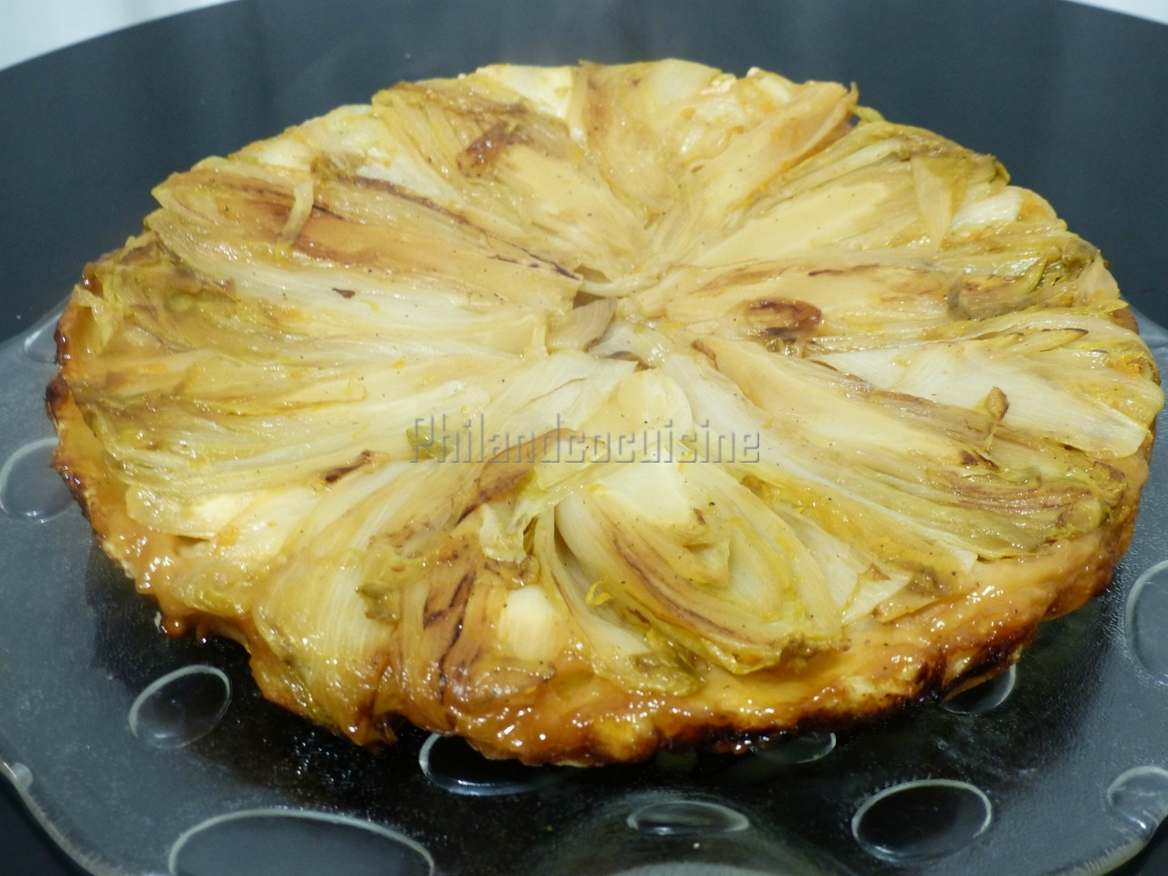 Tatin d'endives au chèvre et à l'orange