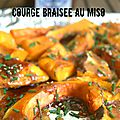 Courge braisée au miso
