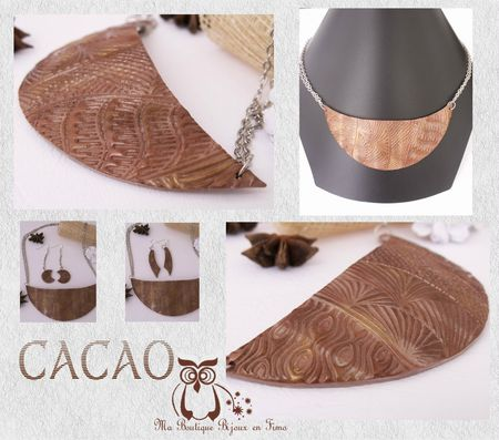 Collier Plastron 2 CACAO