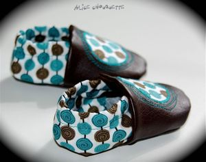 Chaussons cyclones zoom turquoise