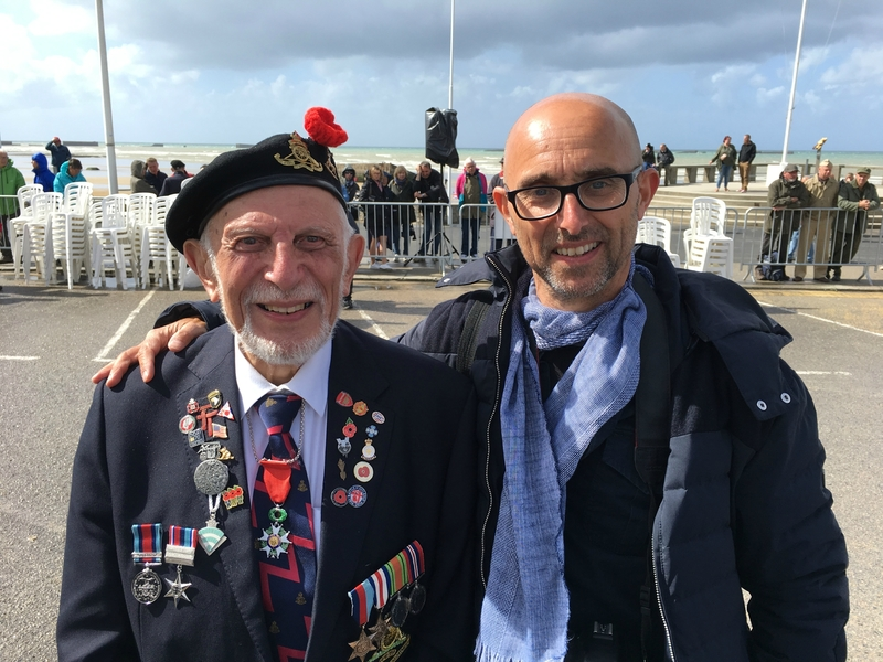 DDAY Arromanches 6 juin 2017 Francois Groualle Joe Cattani veteran avranches infos