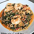 Riz aux crevettes, épinards et tomates ww