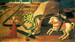Uccello st georges dragon