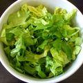 salade coupée aux ciseaux