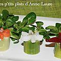 Petites bouchées de poireau aux fleurs de légumes