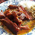 Palette de porc confite au four