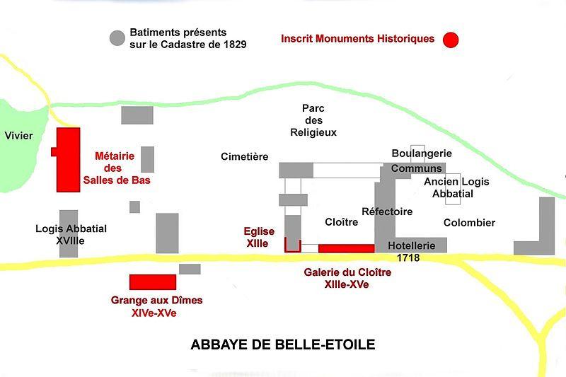 232933-plan-abbaye-cerisy-belle-etoile-sur-cadastre-