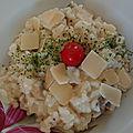 Risotto, champignons, parmigiano et tofu soyeux