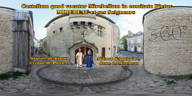 Aliénor d'Aquitaine- Maurice de Blason évêque de Poitiers - Castellum quod vocatur Mirebellum in comitatu Pictav