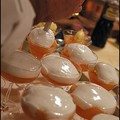 Gelée à la verveine citronnelle, suprêmes de pamplemousse, sorbet gingembre à l'écume de champagne