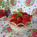 Panna cotta verveine fraises