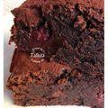 Brownies framboises et pépites de chocolat