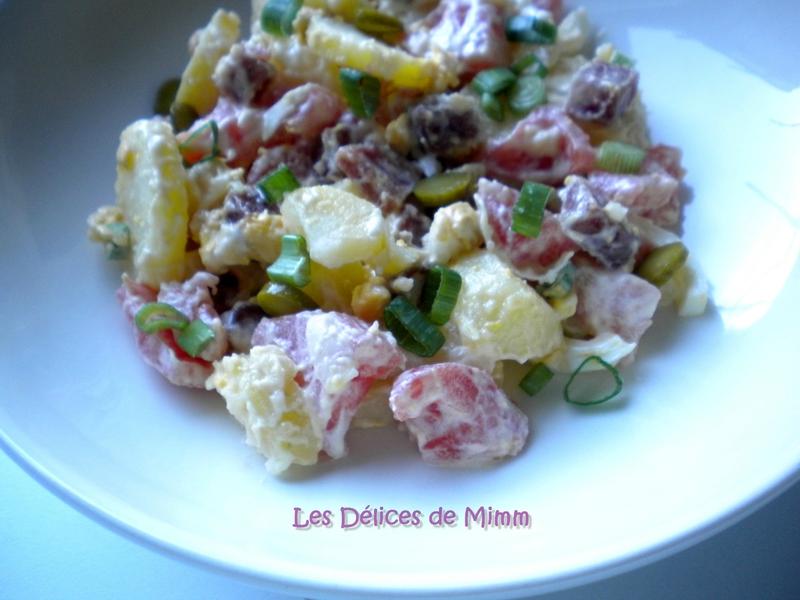 Salade de pommes de terre au saucisson 3