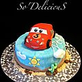 Gâteau cars flash mc queen