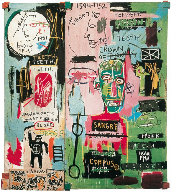 Jean-Michel Basquiat In Italian 1983
