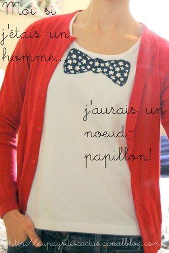 T-shirt noeud-papillon Au pays des Cactus