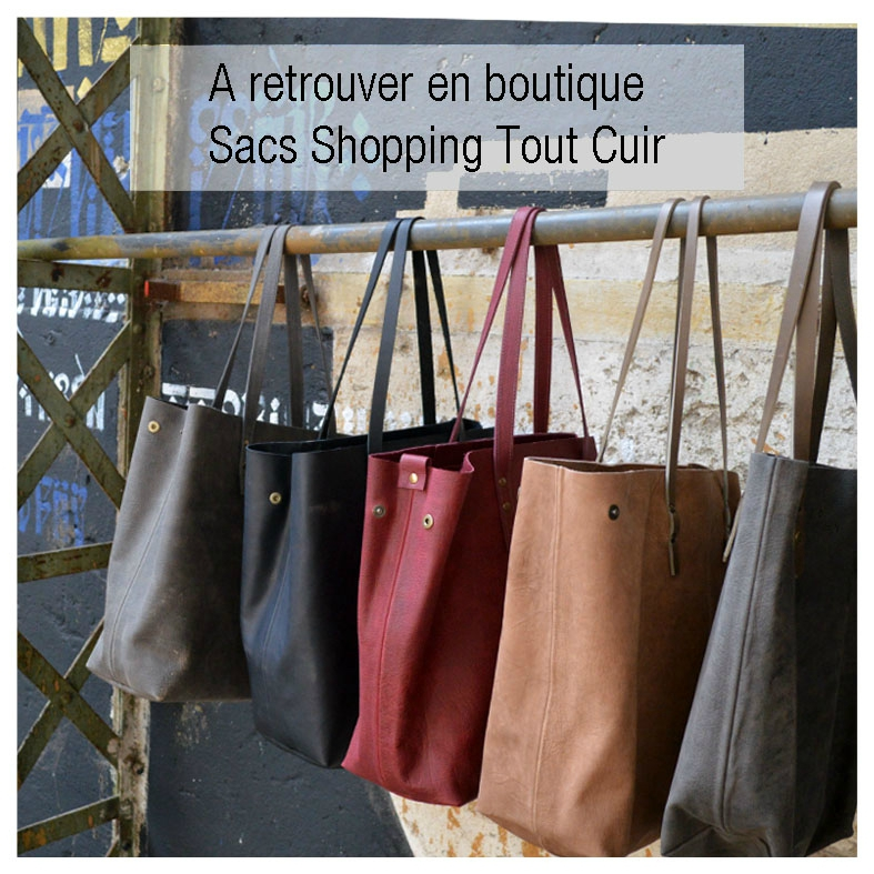 A Shopping tout cuir vente