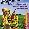 Bal trad' le samedi 08 octobre à partir de 20h30 à la salle des fêtes de saint maurice de lignon