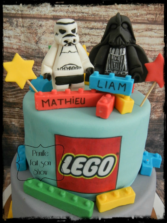 gateau lego star wars prunillefee 2