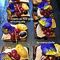 Toasts au foie gras et aux kumquats