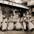 Frank carpenter, manchu ladies of the palace being warned to stop smoking, peking, china, c. 1910-1925