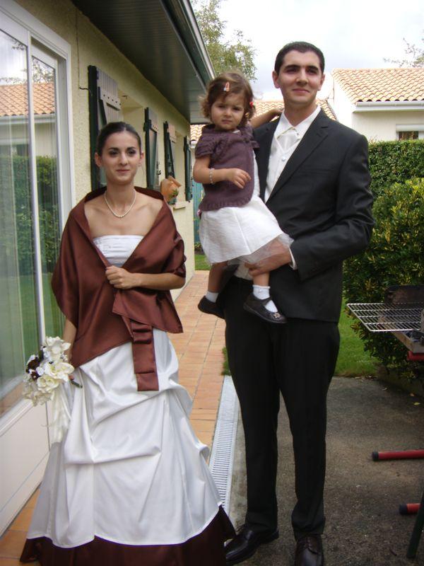 robe de mariée vanille-chocolat