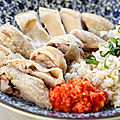 Poulet de hainan (chicken rice)