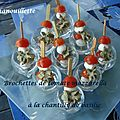 Brochettes de tomates mozzarella à la chantilly de basilic