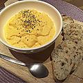 Crème chevre, carotte et radis noir -by claire-