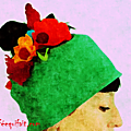 Mon bonnet : des fleurs dans les cheveux comme frida