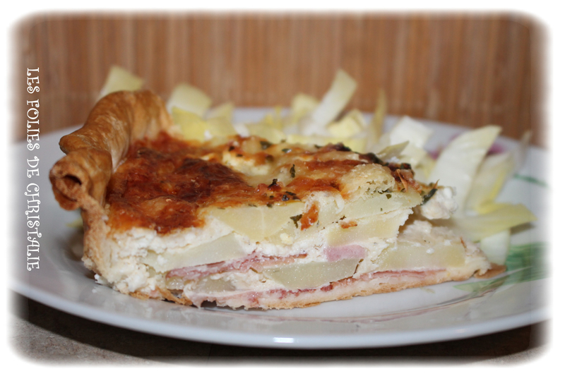 Quiche bacon féta pdt 8