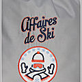 sac affaire de ski motif