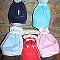 Des petits sacs, des petits sacs, toujours des petits sacs...