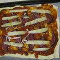 Pizza express au magret de canard séché maison