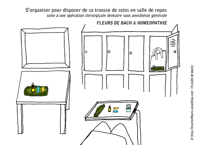 S'organiser pour disposer de sa trousse de soins en salle de repos (1) ; marionfleurs