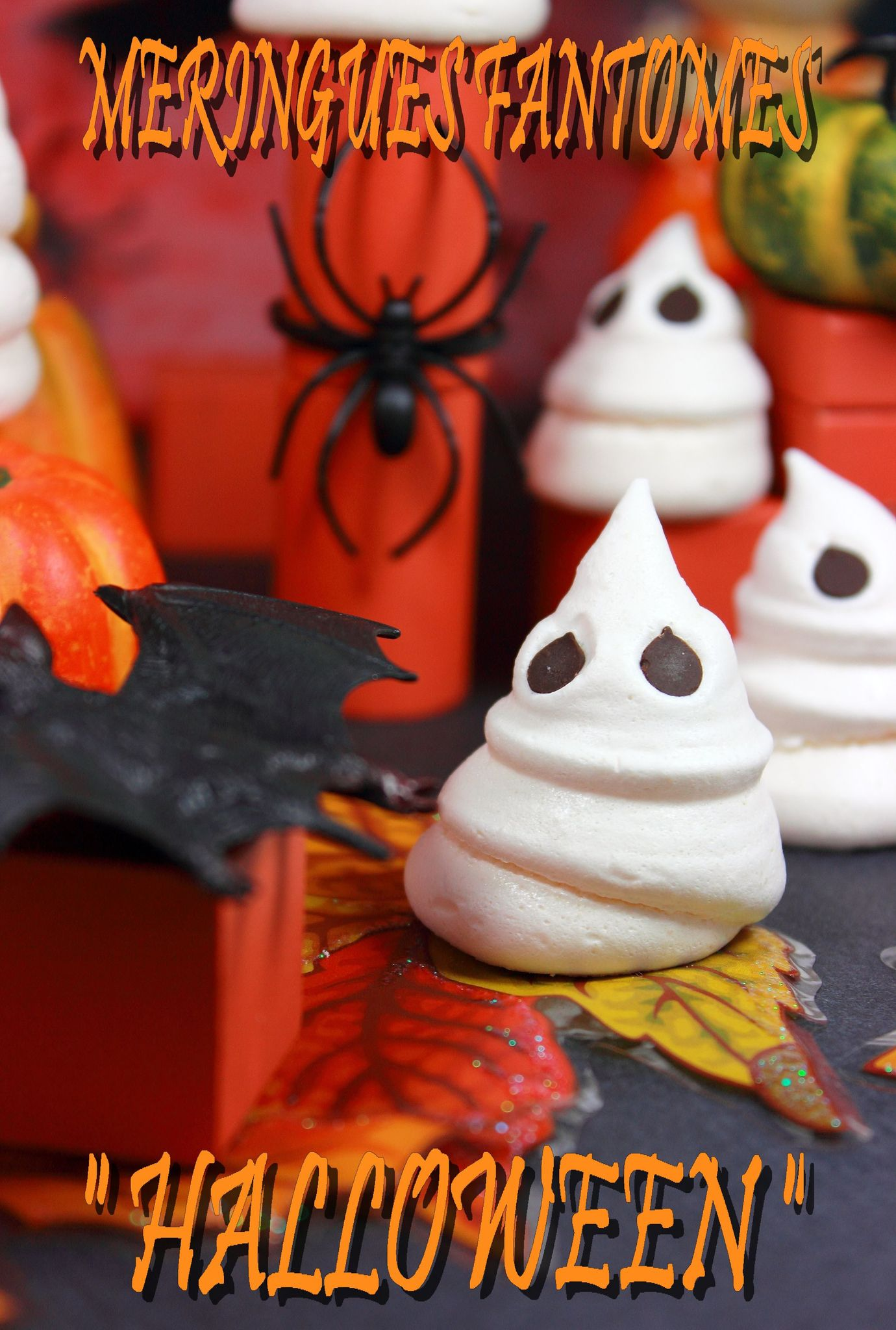 meringues fant mes pour halloween les gourmandises de. Black Bedroom Furniture Sets. Home Design Ideas