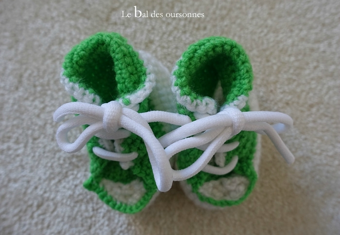 117 Blog Basket Converse Crochet Laine Bébé Hand made Tuto