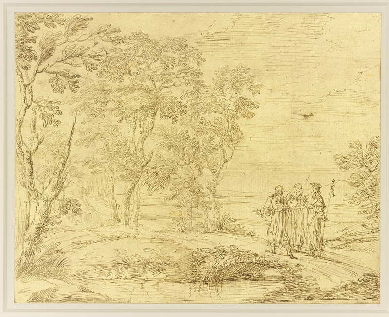 Pier Francesco Cittadini (161316-81), Christ and the disciples on the road to Emmaus, c