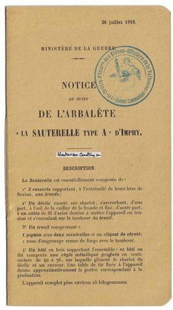 arbalète notice1log