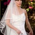 - 60 % voile de mariée blanc 1m50 (voile n°9)( réf v-150-satin-9)