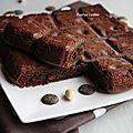 Gateau moelleux aux amandes et chocolat