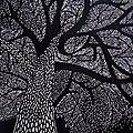 L'arbre - linogravure