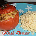 Tomates farcies au curry
