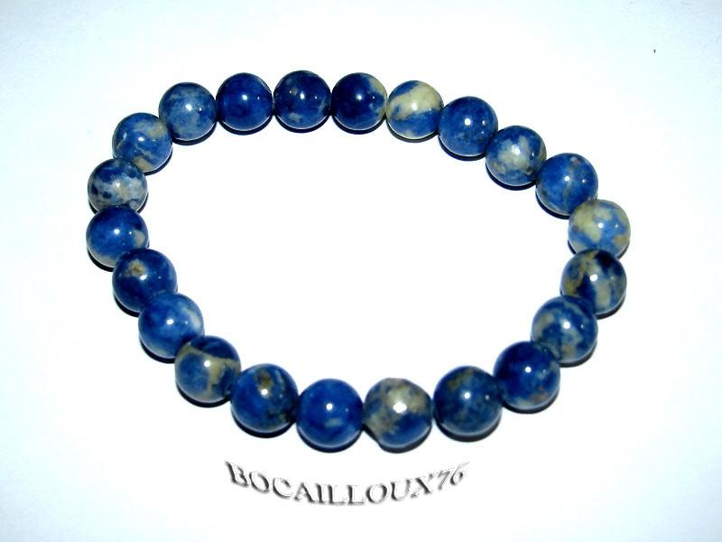 BRACELET SODALITE 4 - Perles D.8