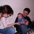Valentin, son papa et Sophie