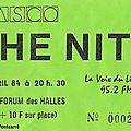 The nits - lundi 16 avril 1984 - théâtre forum des halles (paris)